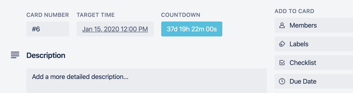 Trello Power-Up   Countdown